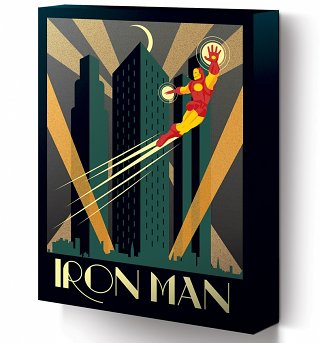 Marvel Comics Iron Man Deco Canvas Print 30 x 40cm