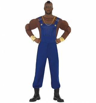 Men's A-Team Mr T Fancy Dress Costume