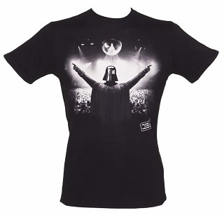 Men's Black DJ Vader Star Wars T-Shirt from Chunk