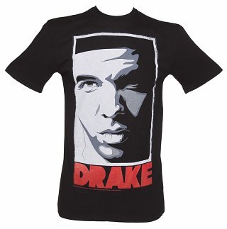 Men's Black Take Care Drake T-Shirt from Amplified