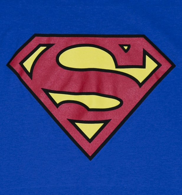 Free Comic Book Day Logo: Men's Blue Superman Logo T-Shirt