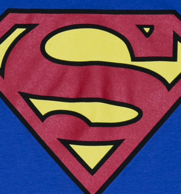 Men's Blue Superman Logo T-Shirt