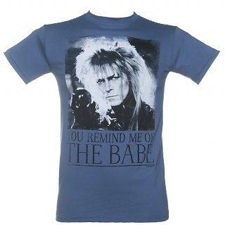 Men's Blue You Remind Me Of The Babe Bowie Labyrinth T-Shirt