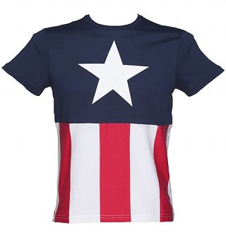 Men's Captain America Marvel Costume T-Shirt