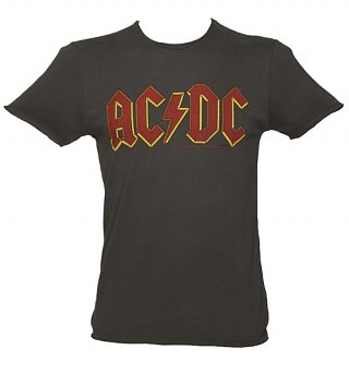 Men's Charcoal AC/DC Logo T-Shirt from Amplified