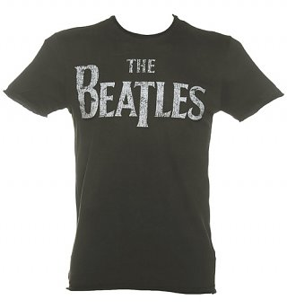 Men's Charcoal Beatles Logo T-Shirt from Amplified
