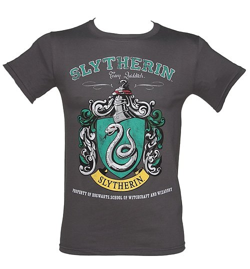 Men's Charcoal Harry Potter Slytherin Team Quidditch T-Shirt