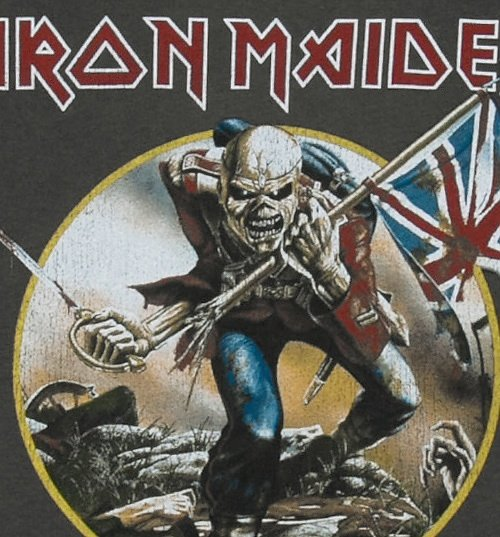 Men's Charcoal Iron Maiden Trooper T-Shirt from Amplified