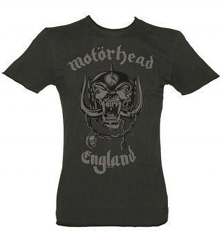 Men's Charcoal Motorhead England T-Shirt from Amplified