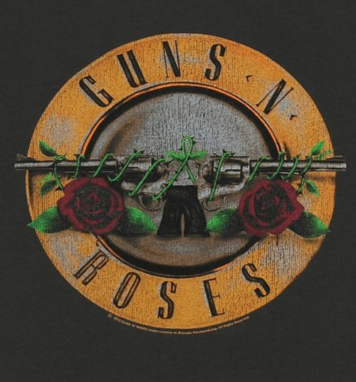 Men's Classic Guns N Roses Drum T-Shirt from Amplified