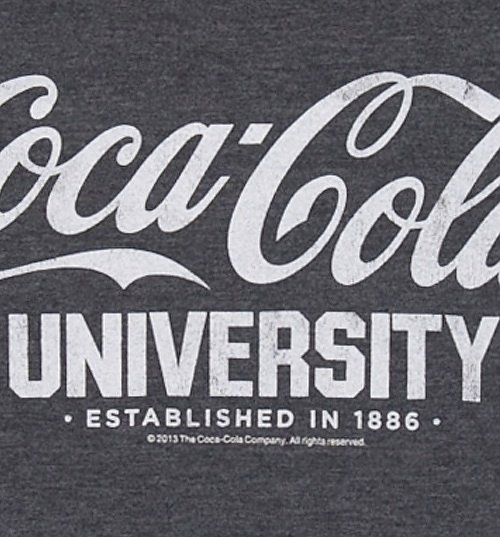 Men's Dark Blue Marl Coca-Cola University Varsity T-Shirt