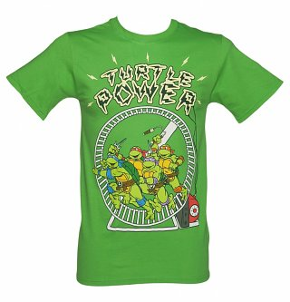 Men's Green Turtle Power Teenage Mutant Ninja Turtles T-Shirt