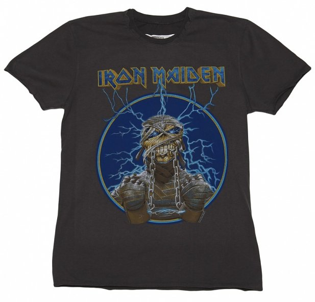 Men's Iron Maiden Mummy Charcoal T-Shirt from Amplified