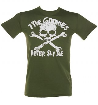Men's Khaki Goonies Never Say Die T-Shirt