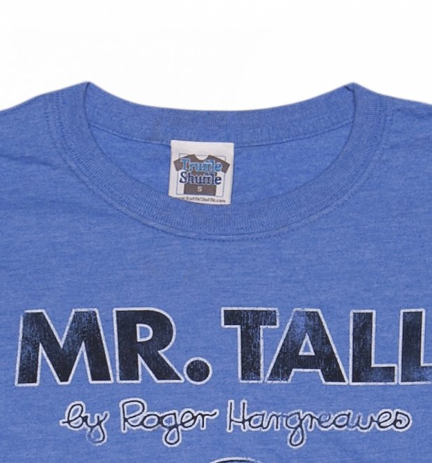 Men's Heather Blue Mr Tall Mr Men T-Shirt