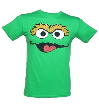Men's Oscar Face Sesame Street T-Shirt