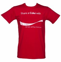 Men's Red Share a Coke Personalised T-Shirt