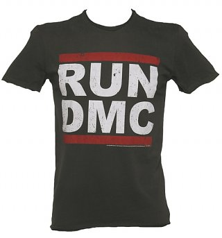 Men's Charcoal Run DMC Logo T-Shirt from Amplified
