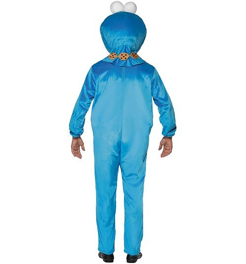 Men's Sesame Street Cookie Monster Fancy Dress Costume