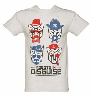 Men's Transformers Retro Robots in Disguise Heavyweight T-Shirt