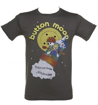 Men's We're Off To Button Moon T-Shirt