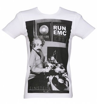 Men's White Einstein Run EMC T-Shirt