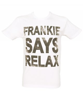 Men's White Frankie Says Relax T-Shirt
