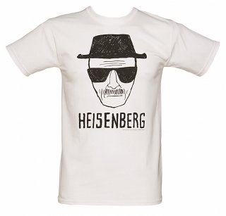 Men's White Heisenberg Sketch Breaking Bad T-Shirt
