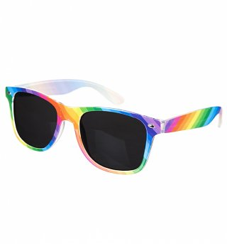 Multi Colour Rainbow Way Farer Sunglasses