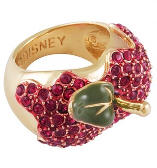 Red Crystal Apple Snow White Ring from Disney Couture