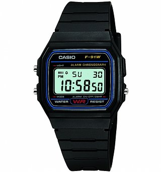 Retro Black Digital Watch F-91W-1YER from Casio