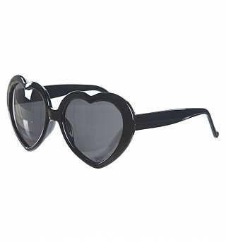 Retro Black Heart Sunglasses from Punky Pins