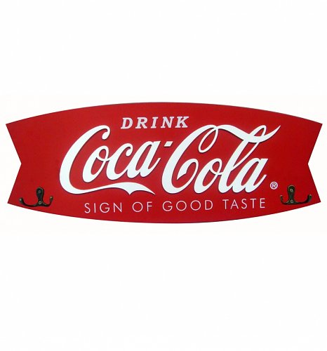 Retro Coca-Cola Fishtail Coat Rack