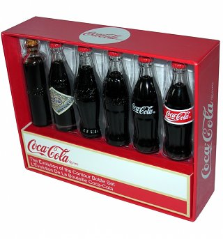 Retro Coca-Cola Miniature Bottle Evolution Set