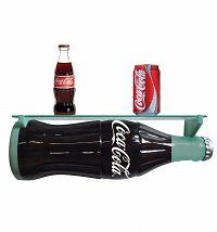 Retro Coca-Cola Resin 3D Bottle Wall Shelf