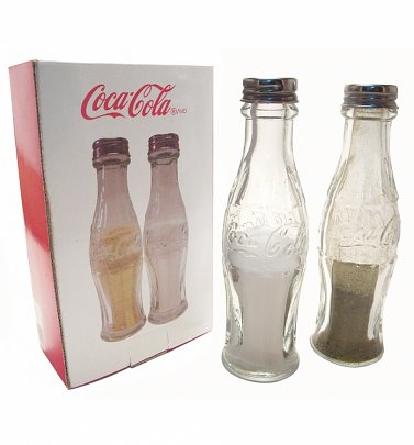 Retro Glass Coca-Cola Bottle Salt And Pepper Shakers