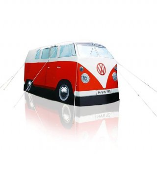 Retro Red VW Campervan Exact Scale Replica Tent
