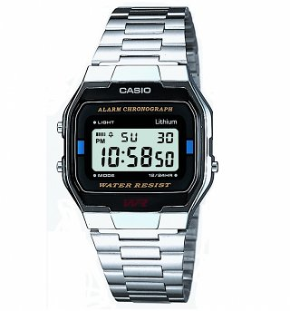 Retro Silver Classic Digital Watch A163WA-1QES from Casio