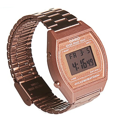 Rose Gold Retro Casio Illuminator Watch B640WC-5AEF from Casio