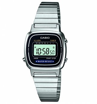 Silver Slimline Retro Digital Watch LA670WEA-1EF from Casio