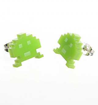 Space Invaders Earrings from Punky Pins