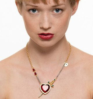 Heart and Dagger Mixed Metal Snow White Pendant Necklace from Disney Couture