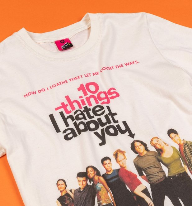 10 Things I Hate About You Movie Poster Ecru T-Shirt