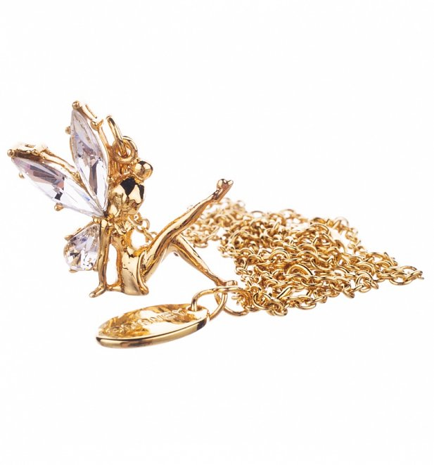 14Kt Gold Plated And Crystal Tinker Bell Charm And Necklace from Disney Couture