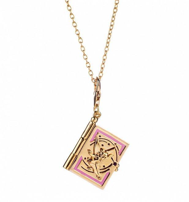 14Kt Gold Plated Tinker Bell Fairy Tale Book Charm And Necklace from Disney Couture