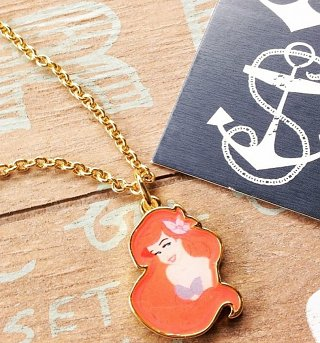 14kt Gold Plated Ariel Little Mermaid Necklace from Disney Couture