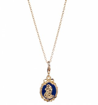 14kt Gold Plated Beauty & The Beast Belle Cameo Charm Necklace from Disney Couture
