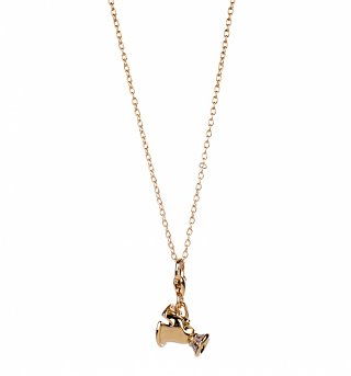 14kt Gold Plated Beauty & The Beast Chip Teacup Charm Necklace from Disney Couture