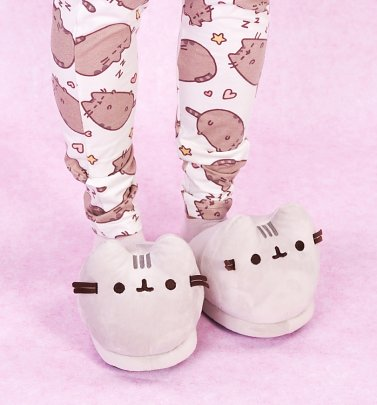 3D Plush Pusheen Slippers