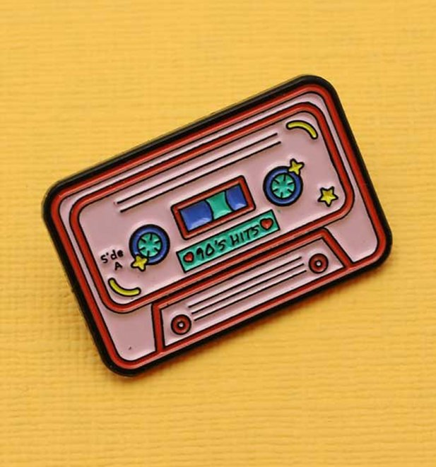 90s Mix Tape Enamel Pin from Punky Pins